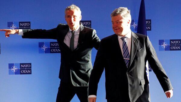 Генерални секретар НАТО-а Јенс Столтенберг и председник Украјине Петро Порошенко - Sputnik Србија
