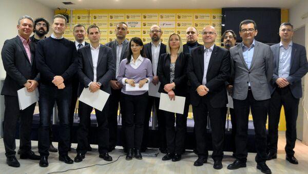 Лидери опозиционих странака потписали Предлог Заједничких услова опозиције за спровођење слободних и поштених избора. - Sputnik Србија