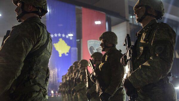 Припадници безбедносних снага самопроглашене републике Косово // AP Photo, Visar Kryeziu - Sputnik Србија