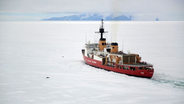 Američki ledolomac Polarna zvezda na Antarktiku - Sputnik Srbija