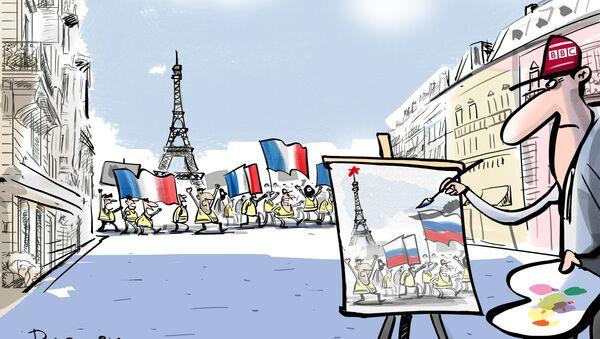 Руски траг у француским протестима - Sputnik Србија