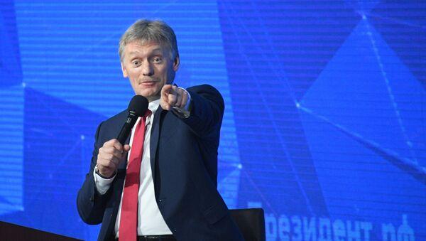 Дмитриј Песков на годишњој великој конференцији за штампу председника Русије Владимирa Путинa - Sputnik Србија