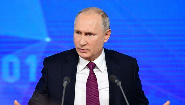 Godišnja velika konferencija za štampu predsednika Rusije Vladimira Putina  - Sputnik Srbija