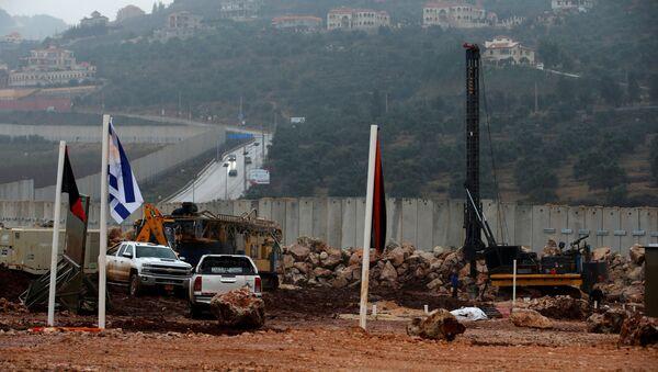 Vozila i teška mehanizacija izraelske vojske tokom operacije uništavanja tunela Hezbolaha na granici sa Libanom - Sputnik Srbija