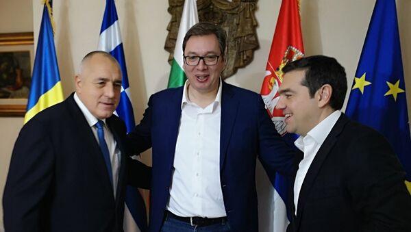 Aleksandar Vučić sa premijerima Grčke i Bugarske - Sputnik Srbija