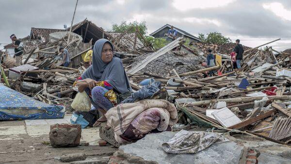 Stravične posledice cunamija posle erupcije vulkana Anak Krakatau - Sputnik Srbija