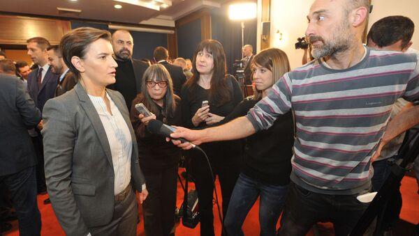 Ана Брнабић на пријему за медије - Sputnik Србија