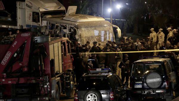 Policijski uviđaj na mestu napada u Egiptu - Sputnik Srbija