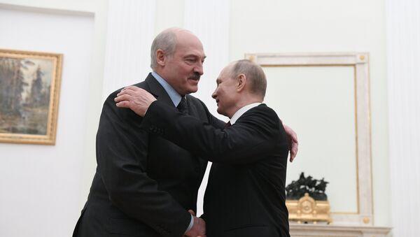 Председник Русије Владимир Путин и председник Белорусије Александар Лукашенко - Sputnik Србија