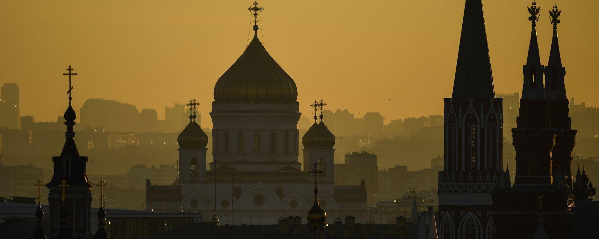 Поглед на храм Христа Спаситеља у Москви - Sputnik Србија, 1920, 22.05.2021