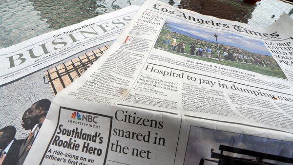 Штампано издање листа Лос Анђелес тајмс - Sputnik Србија