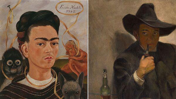 Autoprotret - Frida Kalo  i autoprotret  Dijego Rivera - Sputnik Srbija