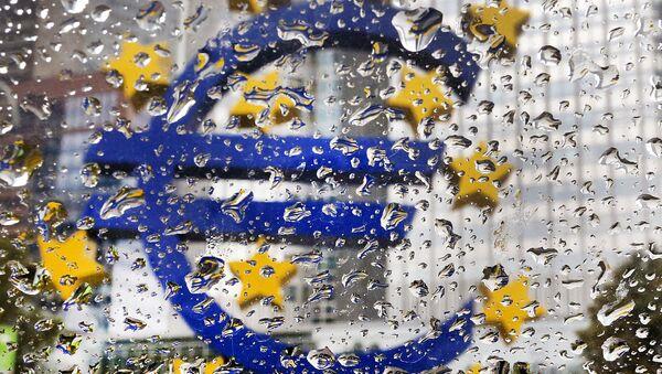 Skulptura evra ispred Centralne banke Evrope - Sputnik Srbija