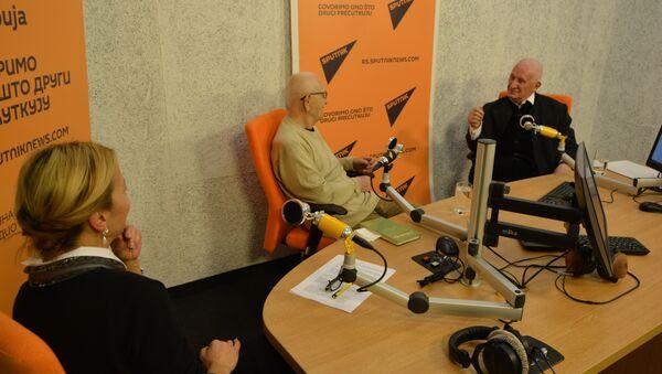 Matija Bećković i Puriša Đorđević - Sputnik Srbija