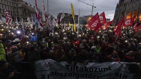 Demonstracije u Budimpešti - Sputnik Srbija