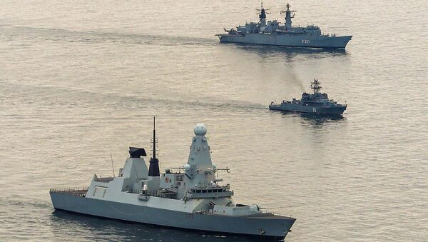 Pomorska grupa 2 (SNMG2) i protivminska NATO grupa 2 (SNMCMG2) patroliraju na Crnom moru - Sputnik Srbija