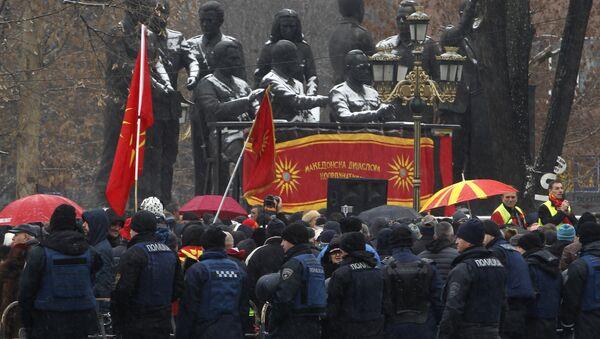 Makedonci nezadovoljni sporazumom s Albancima - Sputnik Srbija