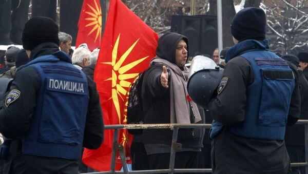 Protest opozicije u Skoplju - Sputnik Srbija