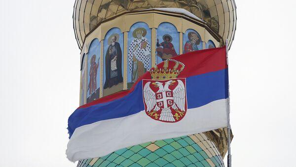 Српска застава на цркви у Банстолу - Sputnik Србија