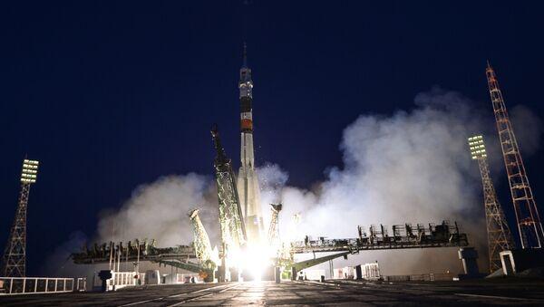 Lansiranje svemirskog broda Sojuz MS 05 sa posadom ekspedicije MKS-52/53 na Međunarodnu svemirsku stanicu na kosmodromu Bajkonur - Sputnik Srbija