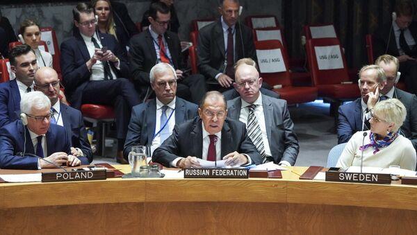 Sergej Lavrov u Savetu bezbednosti UN - Sputnik Srbija