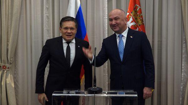 Алексеј Лихачов и Ненад Поповић - Sputnik Србија