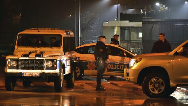 Crnogorska policija ispred američke ambasade - Sputnik Srbija
