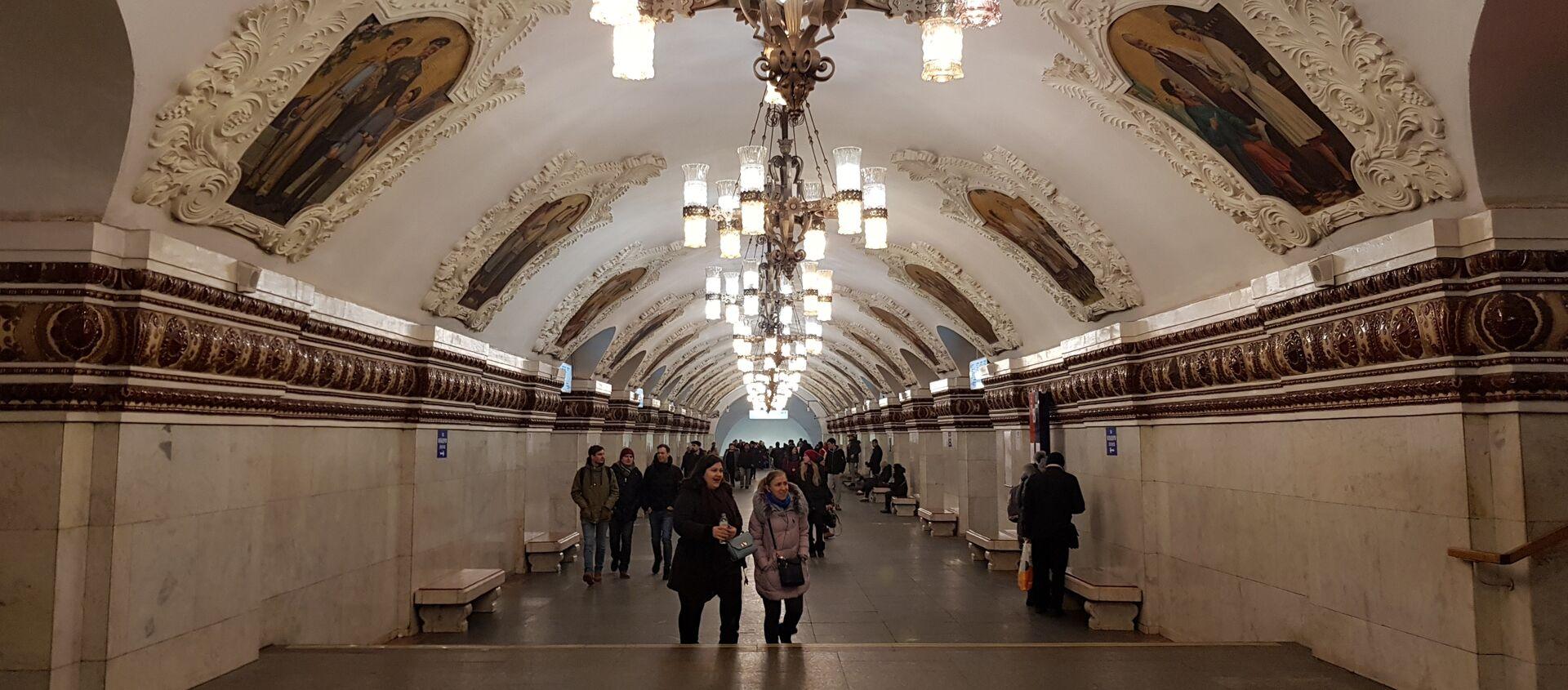 Moskovski metro - Sputnik Srbija, 1920, 04.01.2021