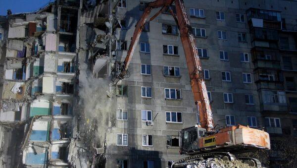 Радови на демонтажи урушене зграде у Магнитогорску - Sputnik Србија