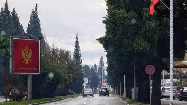 Заставе Албаније на улицама Подгорице - Sputnik Србија