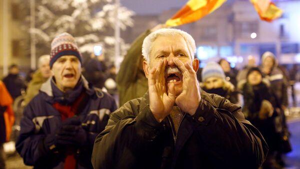 Protesti u Skoplju - Sputnik Srbija