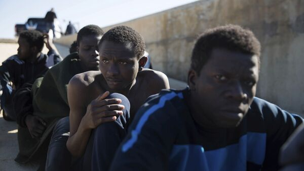 Migranti spaseni nedaleko od obale Libije - Sputnik Srbija