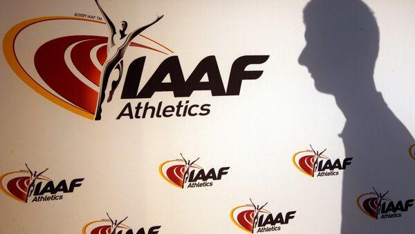 Лого Међународне асоцијације атлетских федерација (ИААФ) у Монаку - Sputnik Србија