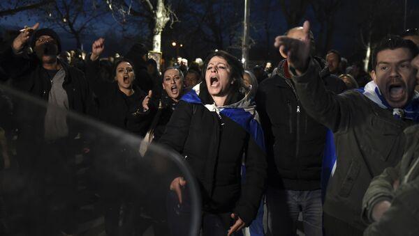Протест у Солуну против Преспанског споразума - Sputnik Србија