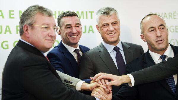 Jozef Brant, Kadri Veselji, Hašim Tači i Ramuš Haradinaj. - Sputnik Srbija