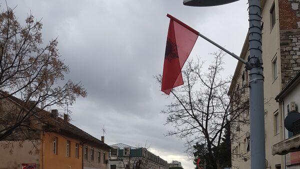 Albanske zastave u Podgorici - Sputnik Srbija