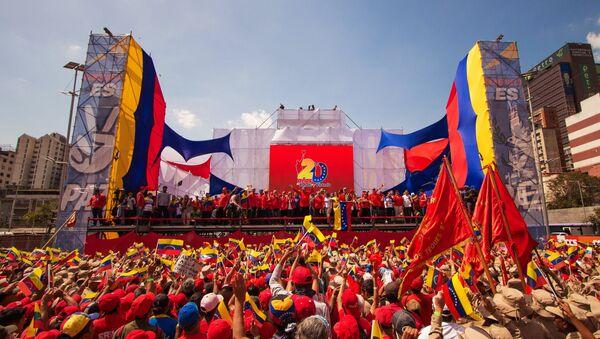 Predsednik Venecuele Nikolas Maduro na mitingu u Karakasu - Sputnik Srbija