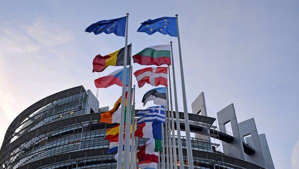 Zastave evropskih država ispred zgrade Evropskog parlamenta u Strazburu - Sputnik Srbija