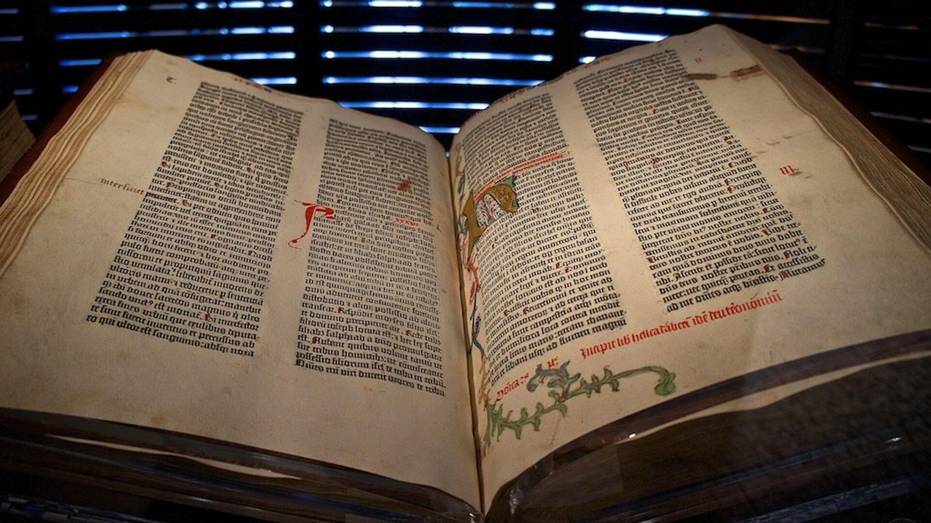 Gutenbergova Biblija - Sputnik Srbija, 1920, 26.09.2021