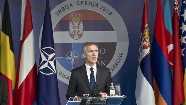 Generalni sekretar NATO-a Jens Stoltenberg prilikom posete Beogradu - Sputnik Srbija