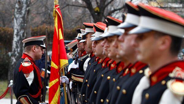 Војска Македоније на смотри - Sputnik Србија
