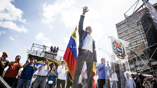 Predsednik Narodne skupštine i samoproglašeni privremeni predsednik Venecuele Huan Gvaido - Sputnik Srbija