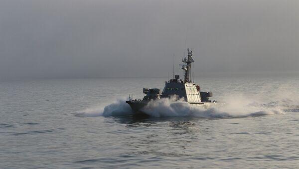 Brod ukrajinske ratne mornarice za vreme vojnih vežbi na Azovskom moru - Sputnik Srbija