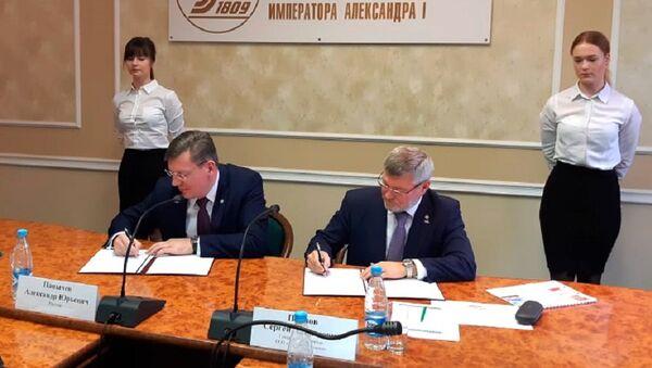 Potpisivanje ugovora RŽD - Sputnik Srbija