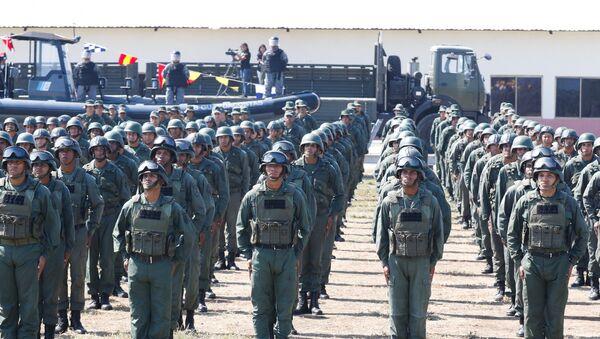 Pripadnici vojske Venecuele na vojnoj vežbi u Puerto Kabelju - Sputnik Srbija