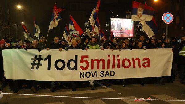Protest 1 od 5 miliona u Novom Sadu - Sputnik Srbija
