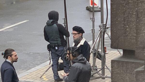 Холивудски глумац Џони Деп на снимању сцене у Београду - Sputnik Србија