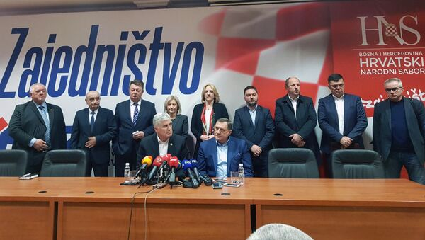 Састанак Драгана Човића и Милорада Додика - Sputnik Србија