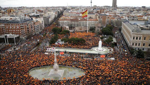 Протест у Мадриду - Sputnik Србија