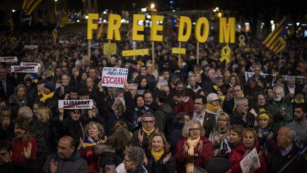 Протест присталица независности Каталоније у Барселони - Sputnik Србија